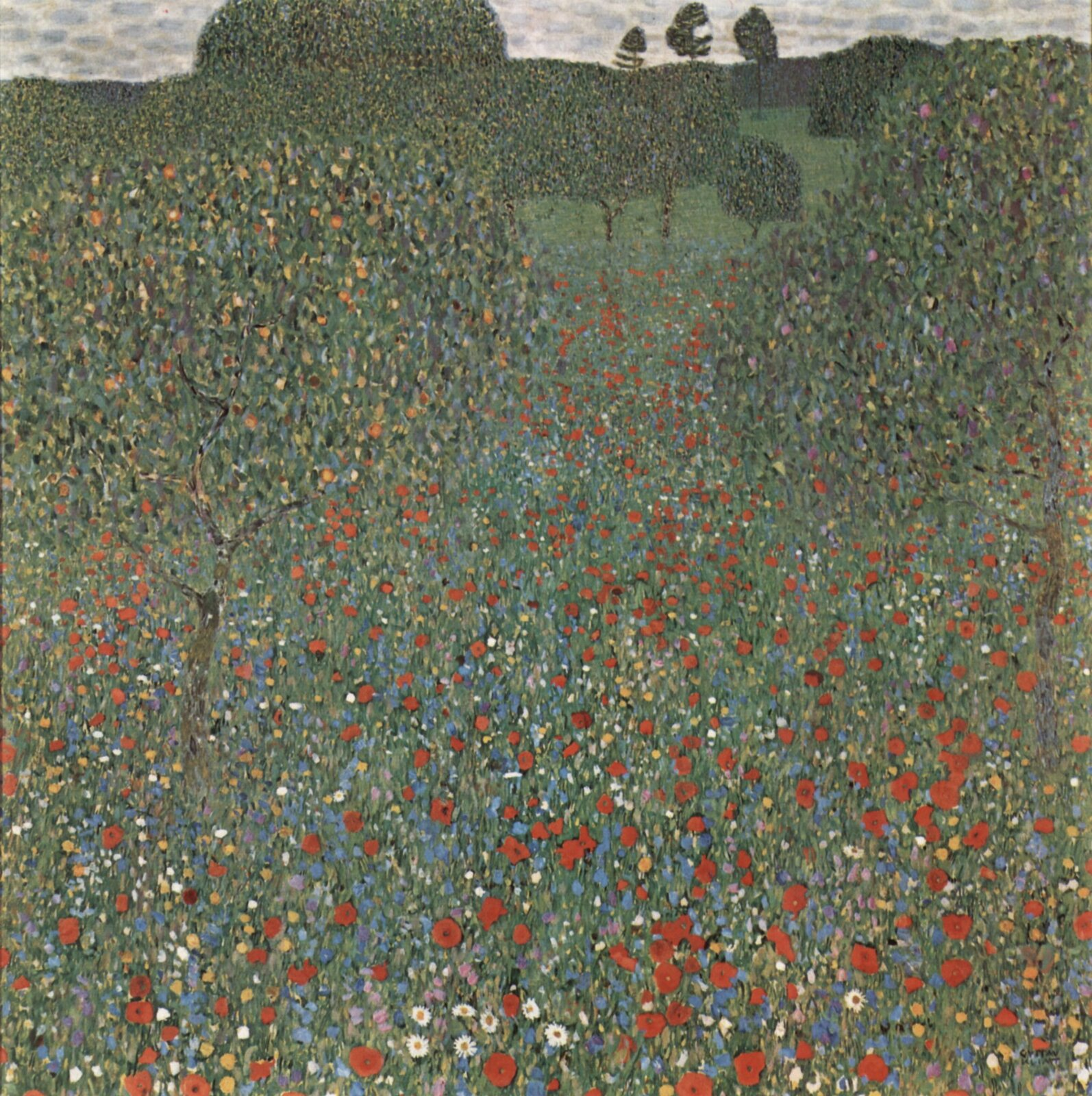 Gustaw Klimt, Pole maków Źródło: Gustaw Klimt, Pole maków, olej na płótnie, The Österreichische Galerie Belvedere, licencja: CC 0.