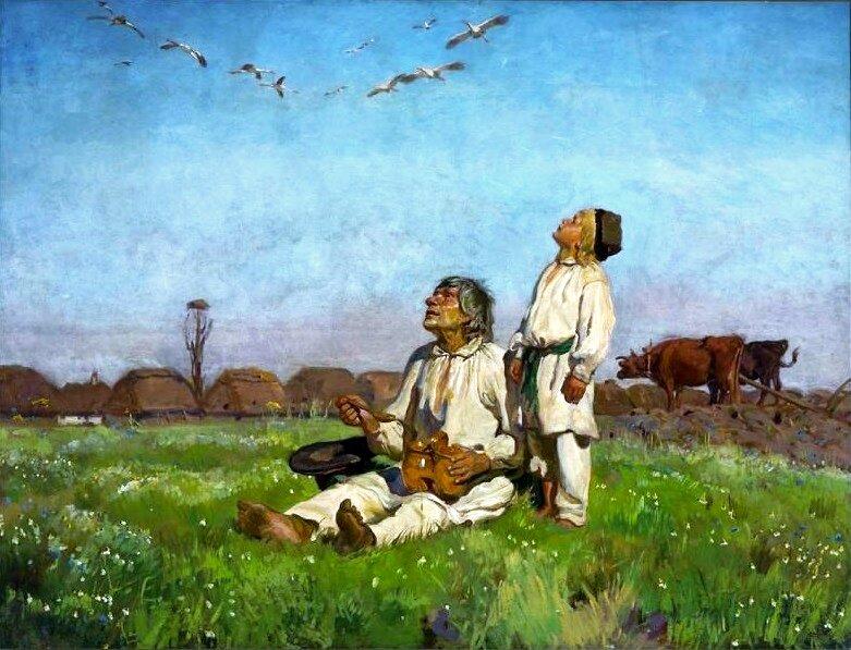 Bociany Źródło: Józef Chełmoński, Bociany, 1900, olej na płótnie, Muzeum Narodowe wWarszawie, domena publiczna.