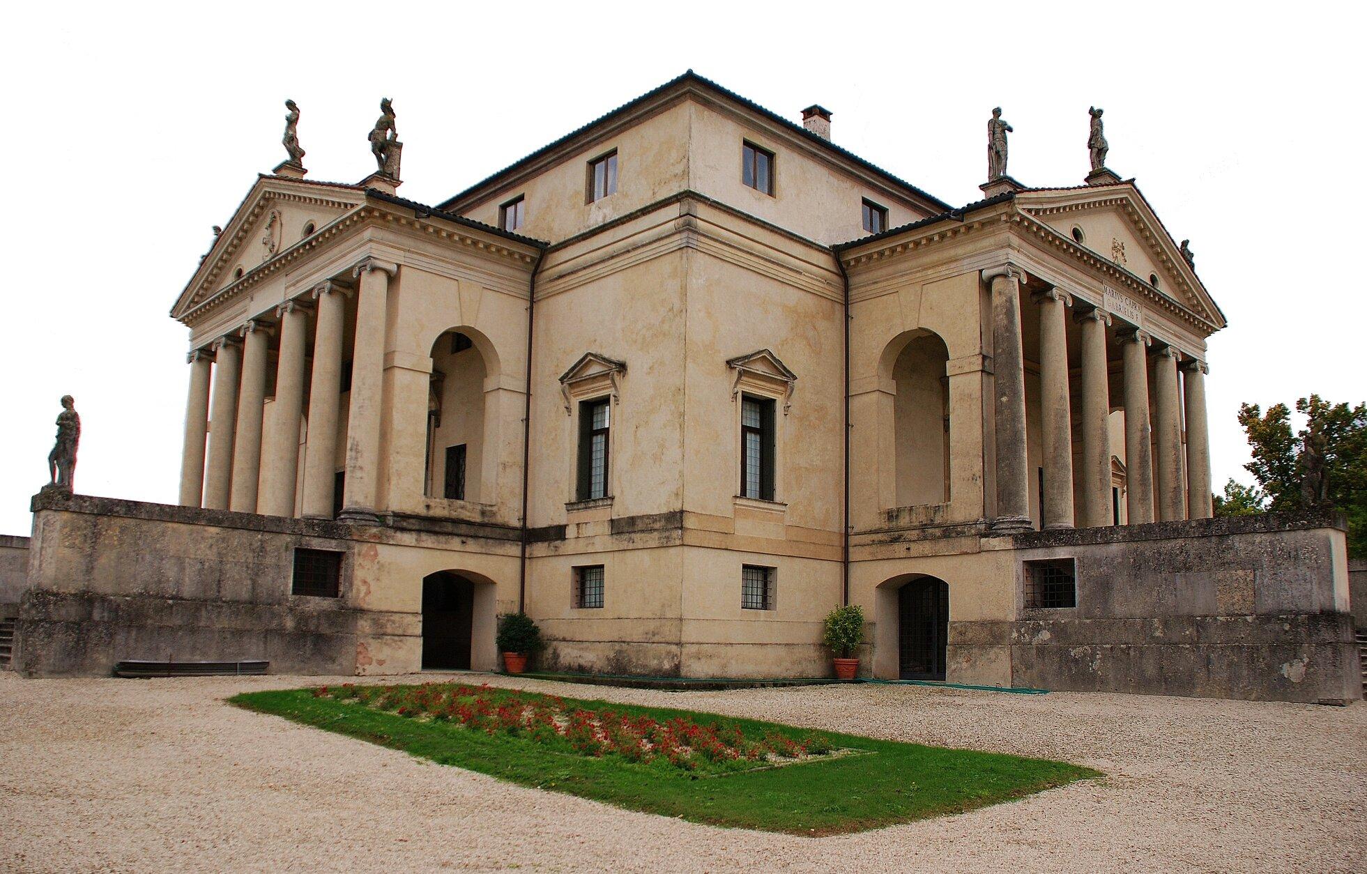 Villa Capra (Villa Rotonda) Źródło: Andrea Palladio, Villa Capra (Villa Rotonda), ok. 1566–1585, domena publiczna.