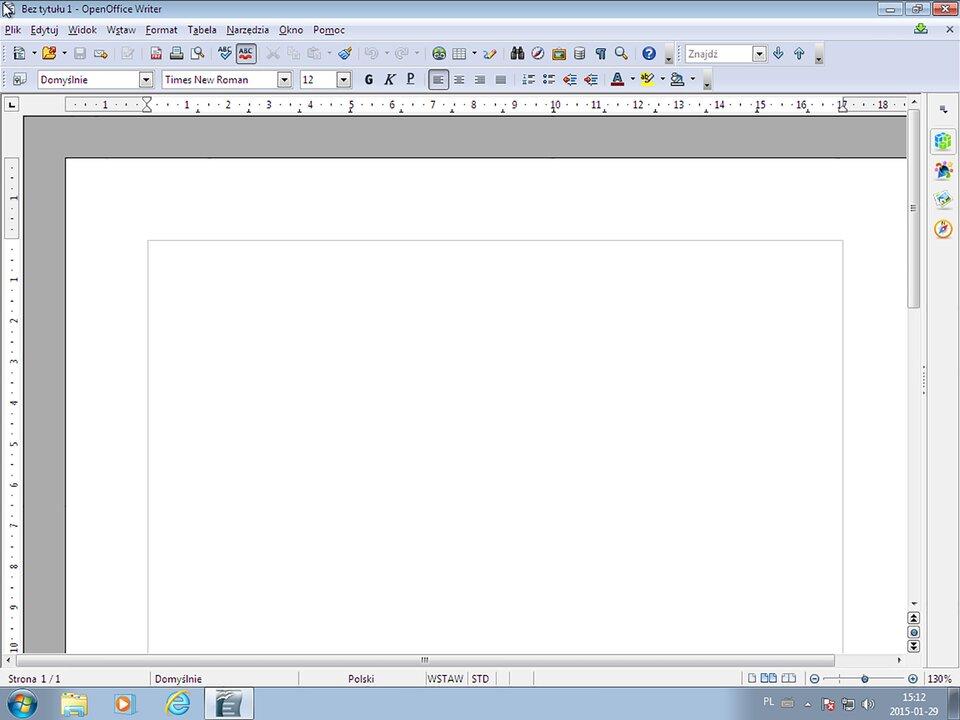 Interaktywne okno programu systemu Windows 7