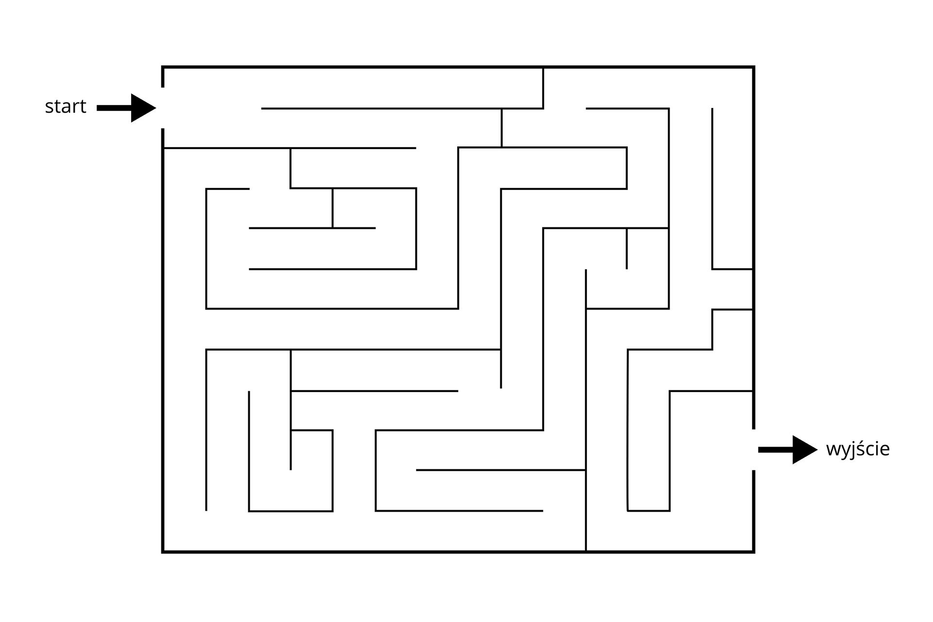 Grafika przedstawiająca labirynt