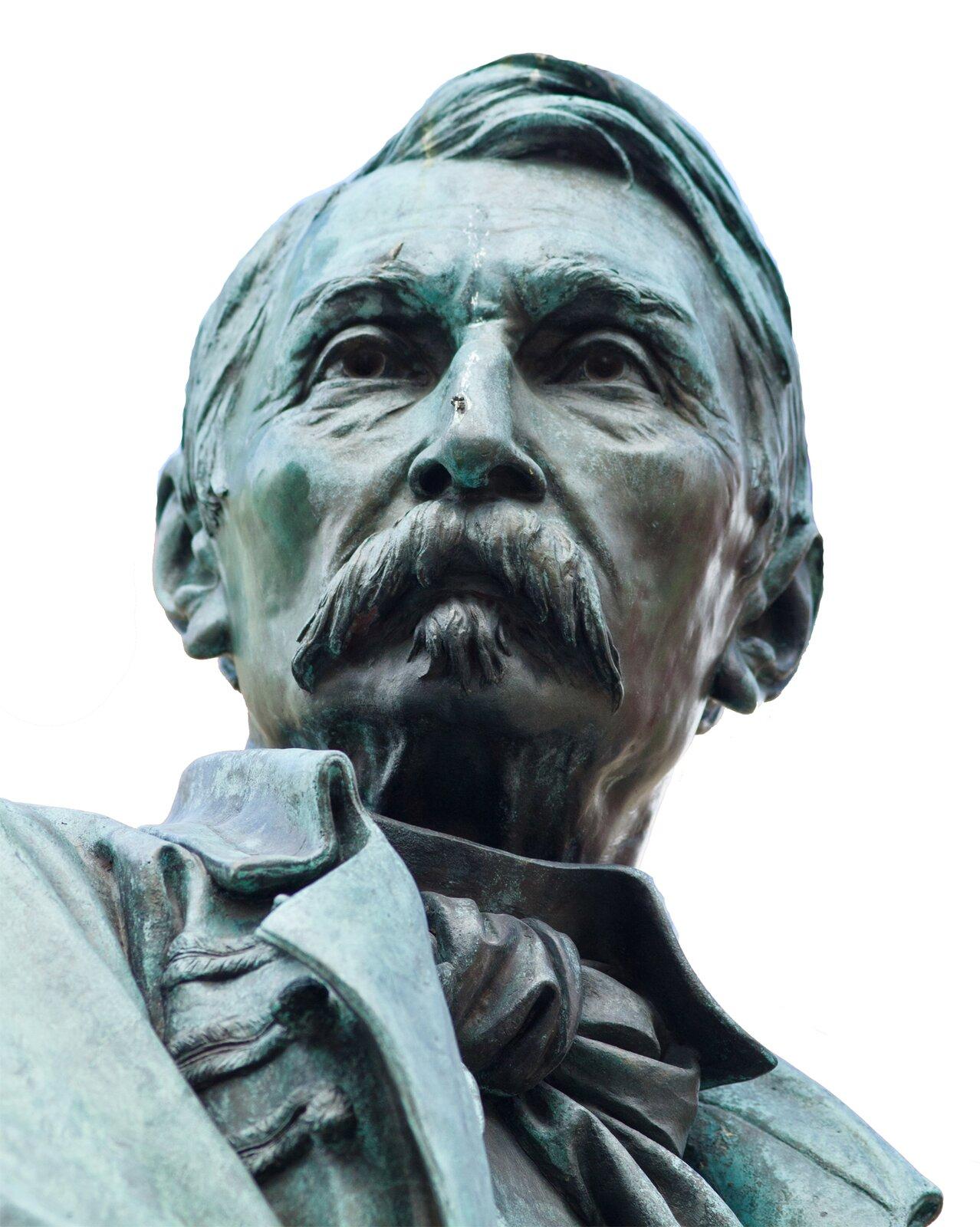 Leonard Marconi, pomnik Aleksandra Fredry, 1879; tu: zdjęcie zWrocławia Leonard Marconi, pomnik Aleksandra Fredry, 1879; tu: zdjęcie zWrocławia Źródło: Małgorzata Skibińska, Contentplus.pl sp. zo.o., fotografia barwna.