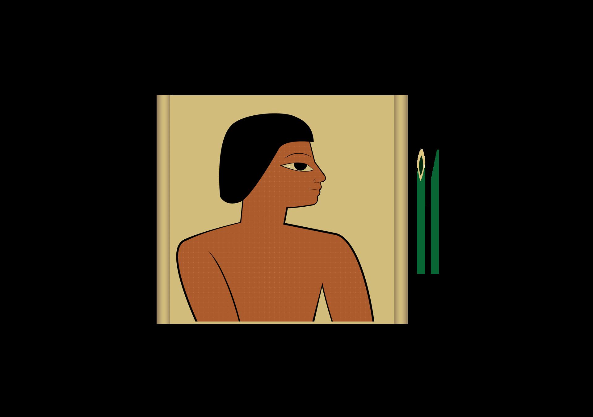 Na papirusie malowano specjalnymi pędzelkami, powstającymi wwyniku strzępienia końcówki trzciny Na papirusie malowano specjalnymi pędzelkami, powstającymi wwyniku strzępienia końcówki trzciny Źródło: Contentplus.pl sp. zo.o., licencja: CC BY 3.0.