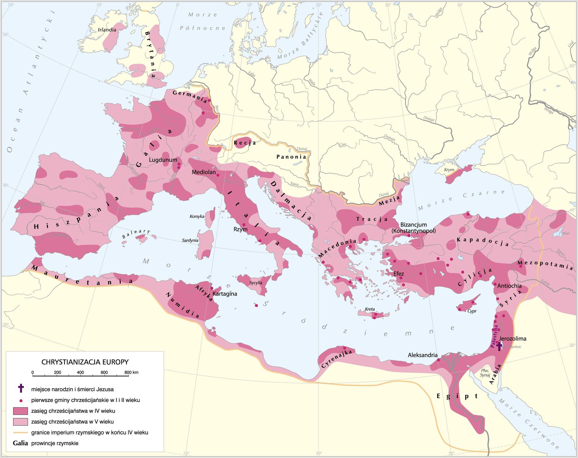 Chrystianizacja Europy Chrystianizacja Europy Źródło: Krystian Chariza izespół.